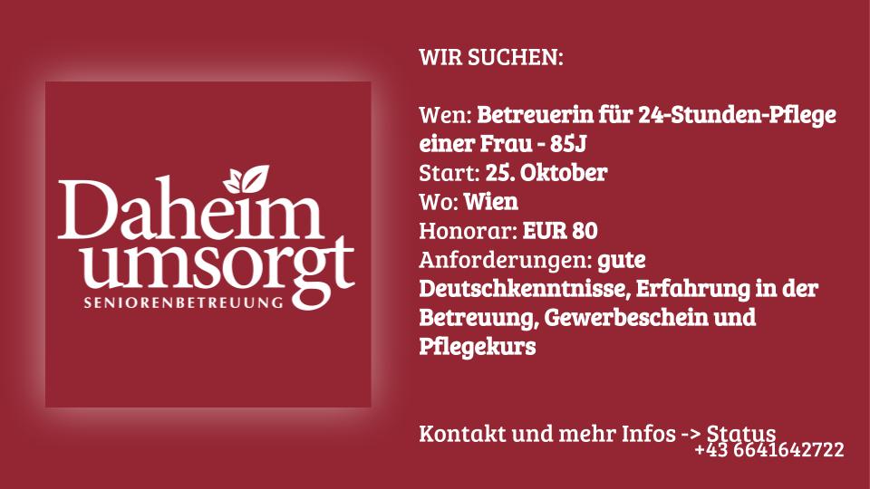 24-Stunden-Pflege in Wien
